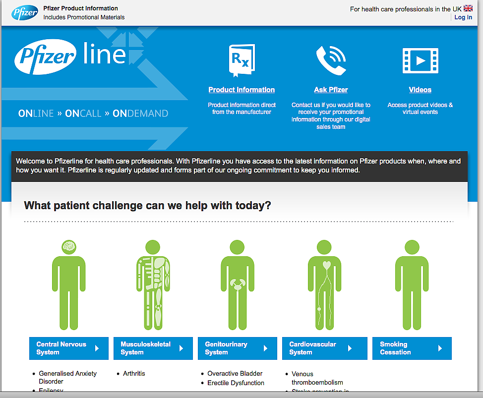Pfizerline Website