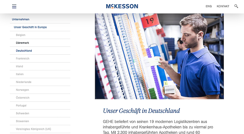 Foto: Website McKesson